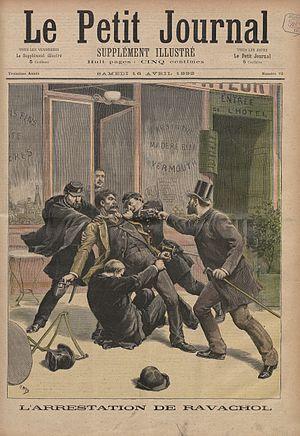 Ravachol - Artist's rendition of the arrest of Ravachol.