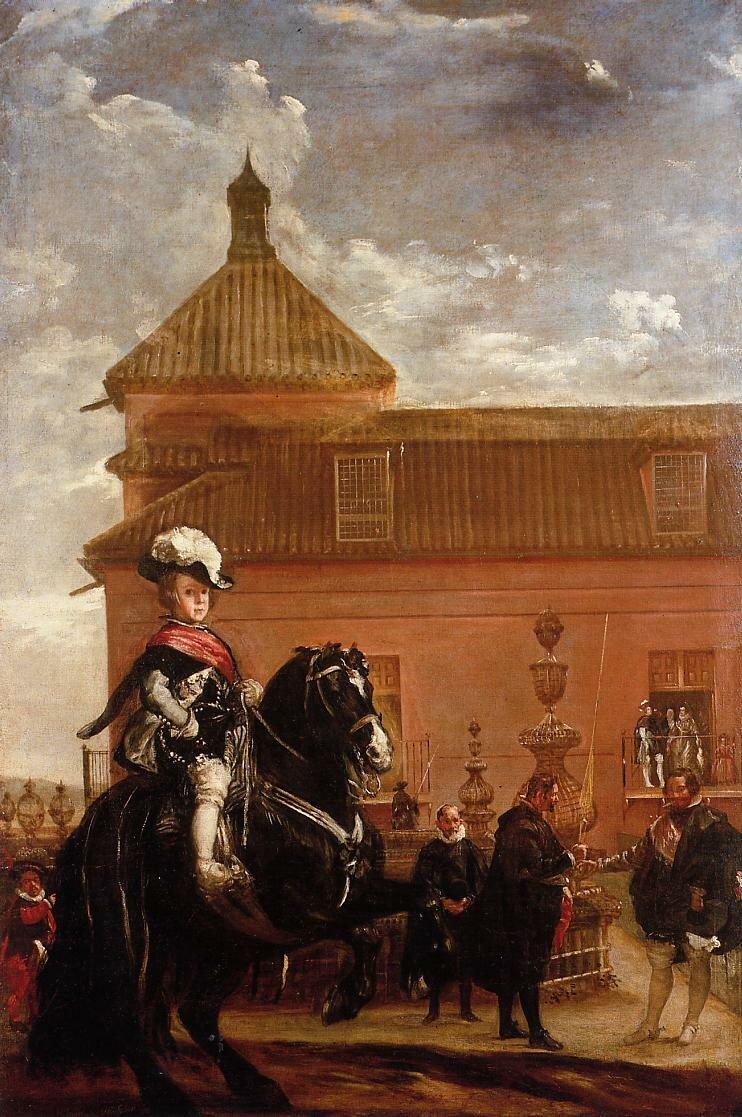Lección de equitación del príncipe Baltasar Carlos, by Diego Velázquez