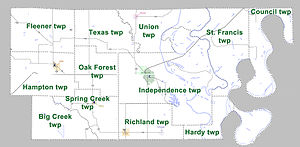 Lee County Arkansas 2010 Township Map large