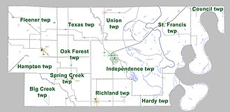 Lee County, Arkansas - Townships in Lee County, Arkansas as of 2010