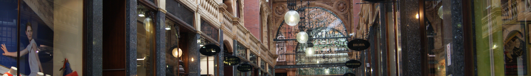 "Pay a visit to the County Arcade, and it's easy to see why Leeds has been dubbed ""the Knightsbridge of the North""."