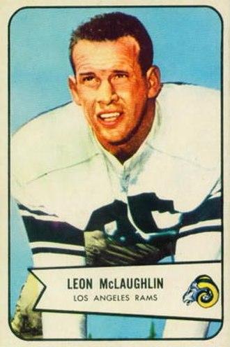 Leon McLaughlin - McLaughlin on a 1954 Bowman football card