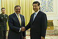 Leon Panetta and Xi Jinping in Beijing, Sept. 19, 2012.jpg
