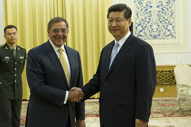 Leon Panetta and Xi Jinping in Beijing, Sept. 19, 2012.jpg