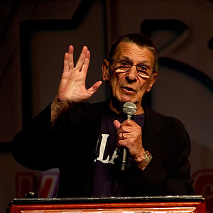 English: Leonard Nimoy (Spock) at the Las Vega...
