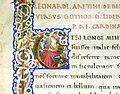 Leonardo bruni, de bello gallico contra gothos, firenze 1459 (bml, pluteo 65.10) 04 capitale E.jpg