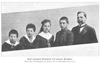 Alexander Kolowrat - Count Leopold Kolowrat and his children, 1903
