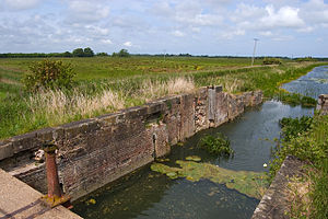 Leven Canal - The remains of the entrance lock