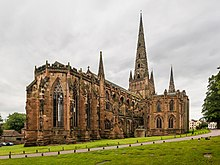 2014 photograph of Lichfield Cathedral by David Illif