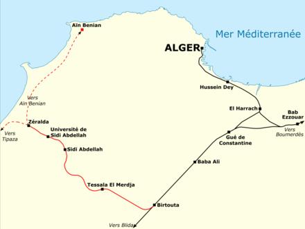 Carte Zeralda Algerie.Ligne De Birtouta A Zeralda Wikipedia