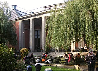 Liljevalchs konsthall - The large portico facing the restaurant garden.