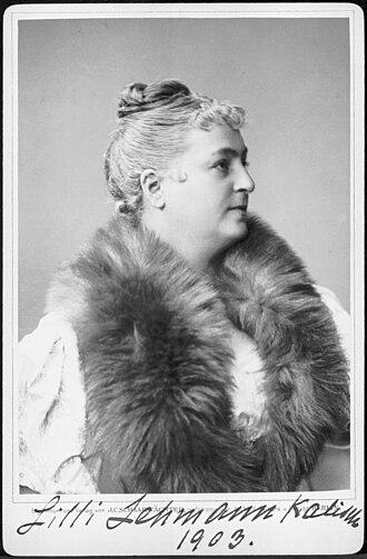 Lilli Lehmann - Portrait with signature, 1903