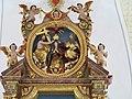 Linden Filialkirche Sankt Maria und Maternus Hochaltar Gebälk.jpg
