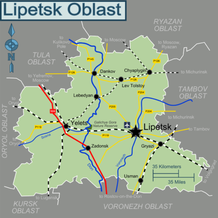 Lipetsk Oblast Travel guide at Wikivoyage