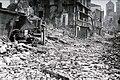 Lisieux en ruines après les bombardements alliés de juin 1944 rue Henry-Chéron.jpg