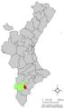 Localització de Montfort del Cid respecte el País Valencià.png