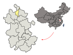 Location of Huaibei Prefecture within Anhui (China).png