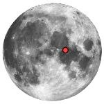 Location of lunar crater plinius