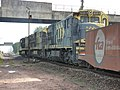 Locomotivas de comboio que entrava sentido Boa Vista no pátio da Estação Ferroviária de Itu - Variante Boa Vista-Guaianã km 201 - panoramio (1).jpg