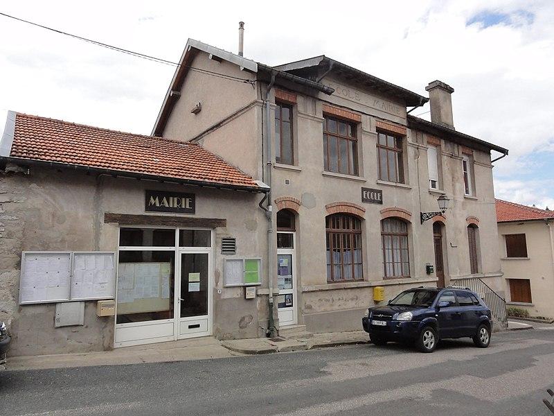 Longeaux (Meuse) mairie-école