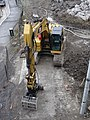 Looking down at a back hoe from a bridge over the Don River, 2014 12 03 (2).JPG - panoramio.jpg