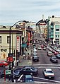 Looking north on Kearny St from Hilton to Portsmouth Square bridge, SF.jpg