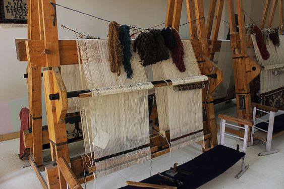 Looms for carpet in the school craft room 02.jpg