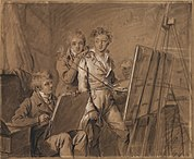 Louis-Leopold Boilly (French - Three Young Artists in a Studio - Google Art Project.jpg