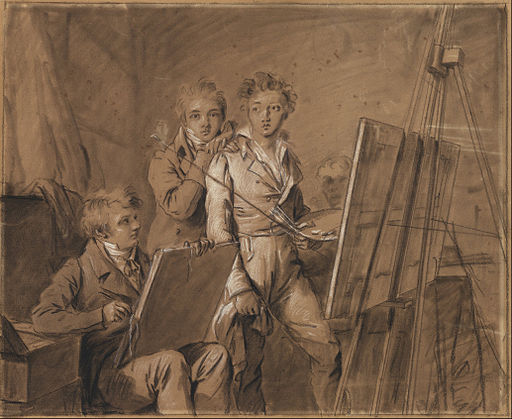 Louis-Léopold Boilly (French - Three Young Artists in a Studio - Google Art Project