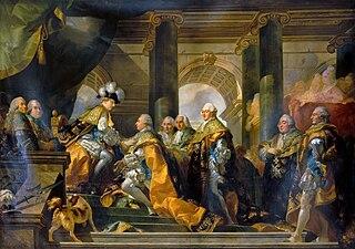 Louis XVI reçoit à Reims les hommages des chevaliers du Saint-Esprit, 13 juin 1775