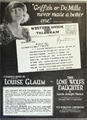Louise Glaum in The Lone Wolf's Daughter by Louis Joseph Vance Film Daily 1920.png