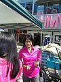 Lovely, gracious and intelligent mayoralty candidate Olivia Chow, at Buskerfest, 2014 08 24 -a.JPG