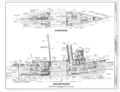 Lower Hold, Inboard Profile - Steam Tug HERCULES, Hyde Street Pier, San Francisco, San Francisco County, CA HAER CAL,38-SANFRA,201- (sheet 2 of 7).png
