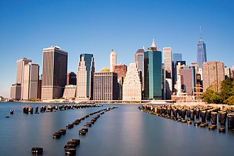 Financial centre - Image: Lower Manhattan viewed from Brooklyn