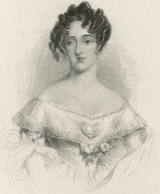 Lucia Elizabeth Vestris - plate to Our actresses, 1844