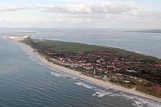 East Frisian Islands - Aerial view of Wangerooge