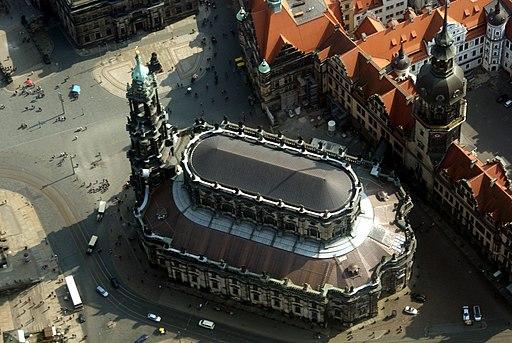 Luftbild Katholische Hofkirche Dresden 2014-03-29