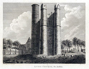 Christopher Barnewall - View of Lusk Church 1791