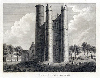 Lusk, Dublin - View from 1791