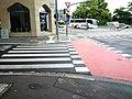 Luxembourg, road marking (110l passages pour piétons et cyclistes).jpg