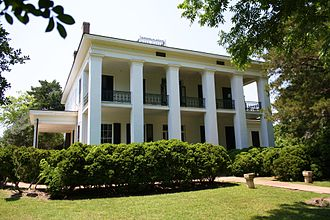 Marengo County, Alabama - Lyon Hall (built 1853) in Demopolis. On the National Register of Historic Places.