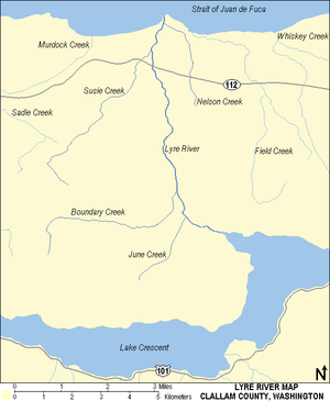 Lyre River - Image: Lyre River Map