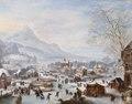 Målning. Vinterscen med skridskoåkare. Jan Griffier - Hallwylska museet - 86727.tif