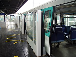 Paris Métro Line 13 - Platform screen doors at Châtillon-Montrouge station