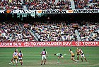 An Australian rules match in progress