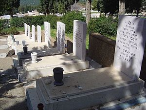 Ma'alot massacre - Ma'alot massacre victims in the Safed cemetery