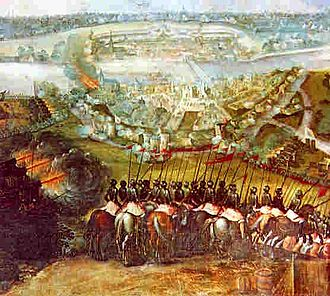 Siege of Maastricht (1579) - Spanish troops storming the city of Maastricht.
