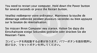 Kernel panic - Image: Mac OS X 10.2 Kernel Panic
