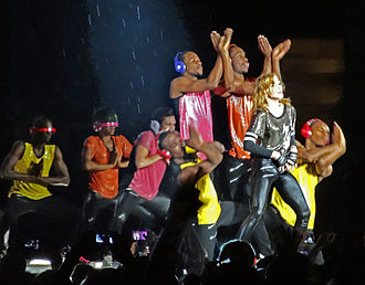 Celebration (Madonna album) - Image: Madonna plays Yankee Stadium 8 September 2012 Adveev 18