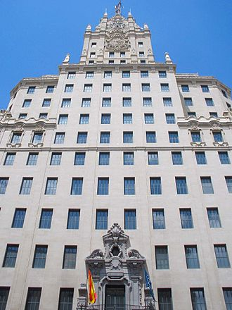 Telefónica Building - Image: Madrid Gran Via 07 (Edificio Telefonica)